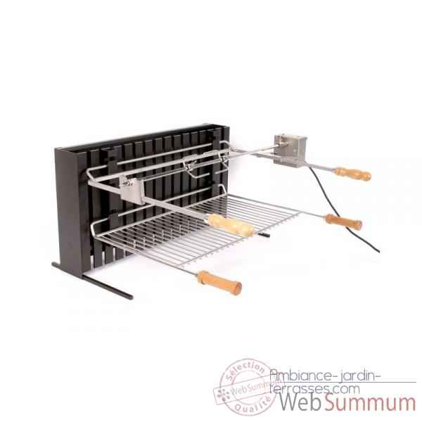 Grilloir vertical acier pm le marquier de barbecues sur - Grille pour barbecue sur mesure en acier inox ...
