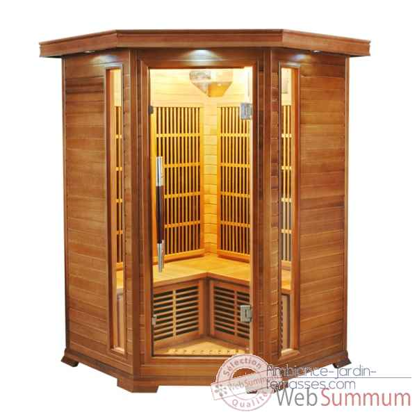 Sauna infra rouge  luxe - 2/3 places Poolstar -SN-LUXE-2C