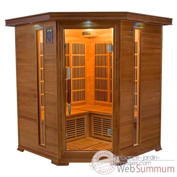 Sauna infra rouge  luxe - 3/4 places Poolstar -SN-LUXE-3C