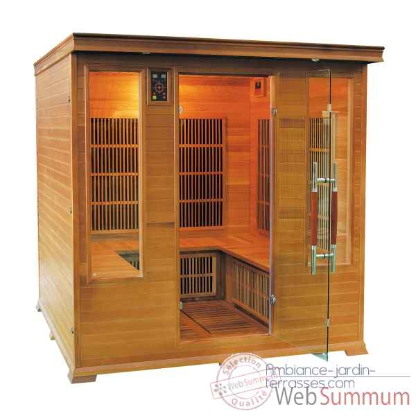 Sauna infra rouge  luxe club - 4/5 places Poolstar -SN-LUXE-4S