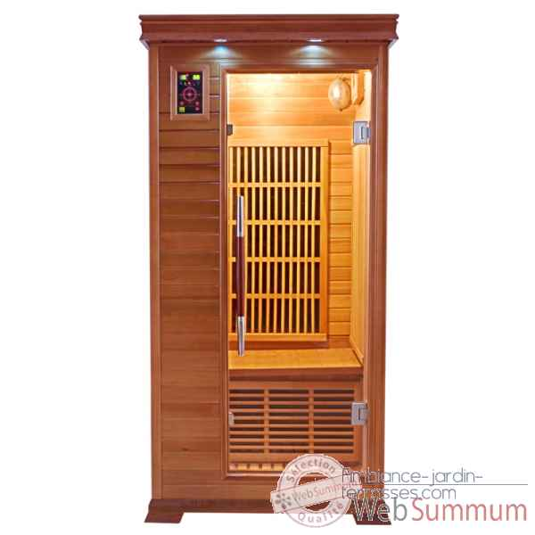 Sauna infra rouge  luxe - 1 place Poolstar -SN-LUXE-1
