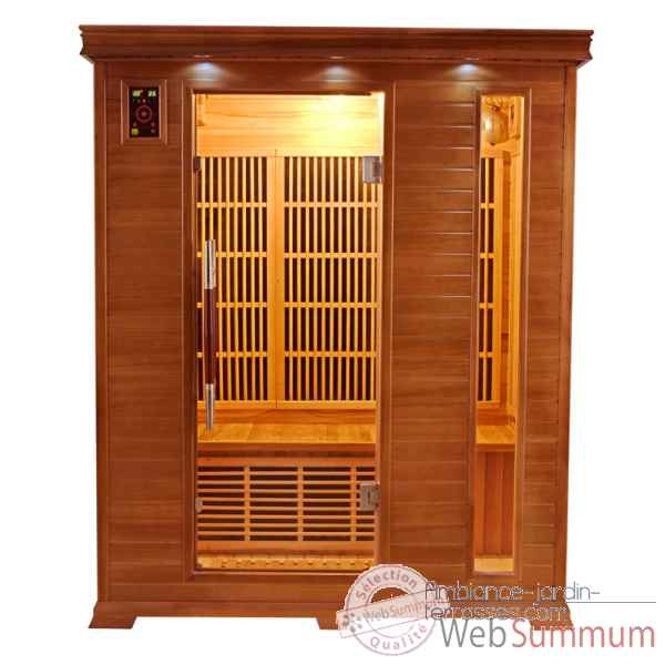 Sauna infra rouge  luxe - 3 places Poolstar -SN-LUXE-3