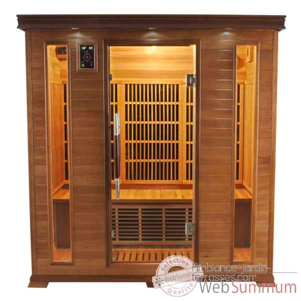 Sauna infra rouge  luxe - 4 places Poolstar -SN-LUXE-4