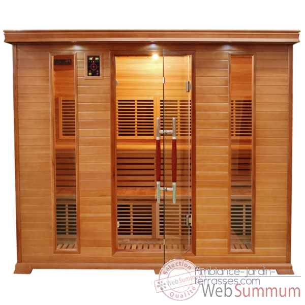 Sauna infra rouge  luxe - 5 places Poolstar -SN-LUXE-5