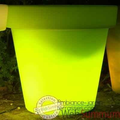 pot de fleurs lampe dans lampes jardin et terrasse sur. Black Bedroom Furniture Sets. Home Design Ideas