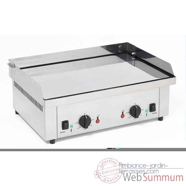 Planche Barbecue electrique double chromee  - Roller Grill R.PS600EC