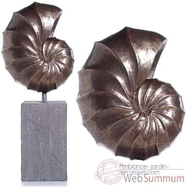 sculpture giant nautilus avec socle bs3318alu lava dans sculpture aluminium jardin. Black Bedroom Furniture Sets. Home Design Ideas