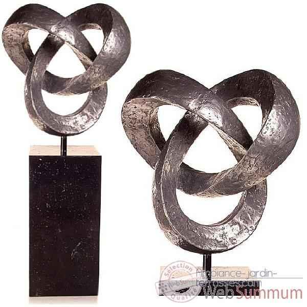 sculpture eclipse en acier avec socle en granit ws eclip g dans sculpture aluminium. Black Bedroom Furniture Sets. Home Design Ideas