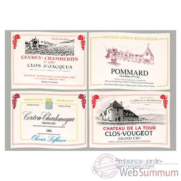 Sets de table tissu vin bourgogne 5149 dans torchon grand vin jardin for Grand set de table