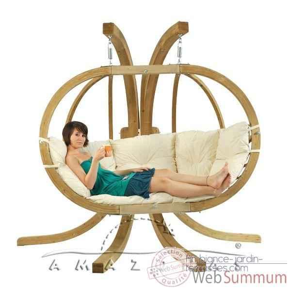 grand fauteuil suspendu amazonas globo royal pillow natura az4012140 dans hamac adulte de hamac. Black Bedroom Furniture Sets. Home Design Ideas