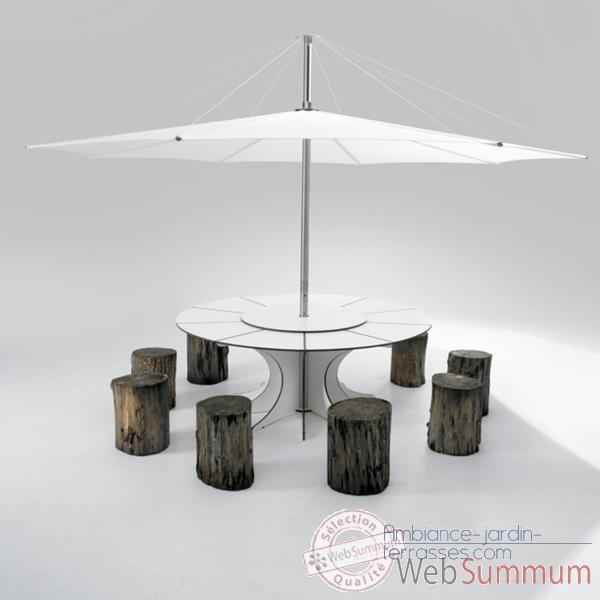 table et parasol arthur pour 8 personnes inumbra arow08 iuw40 de mobilier jardin. Black Bedroom Furniture Sets. Home Design Ideas