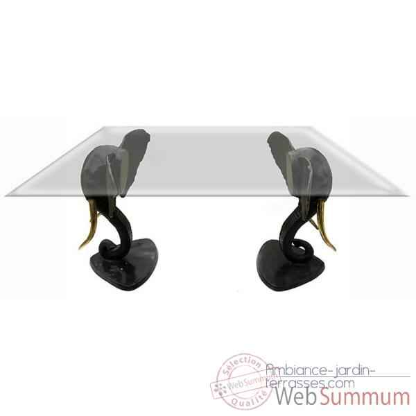 Table basse elephants en bronze -BRZ354