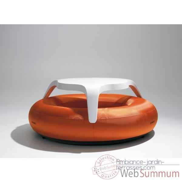 Table donuts extremis avec assise orange dtwbo de for Table exterieur orange