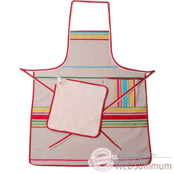 Tablier chef Artiga Corda Metis Multicolore