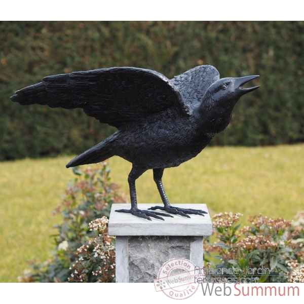 Corbeau avec ailes ouvertes Thermobrass -B50418