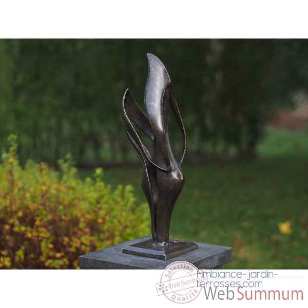 Statue en bronze couple moderne thermobrass -an2235br-bi