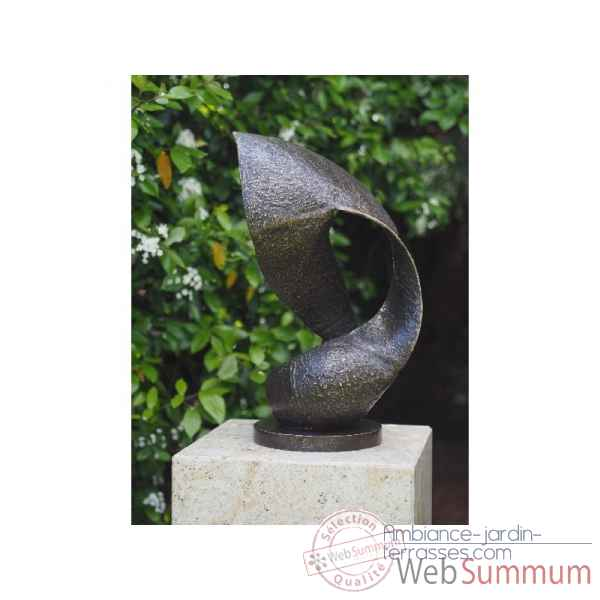 Statue en bronze sculpture moderne wave thermobrass -an0820br-b