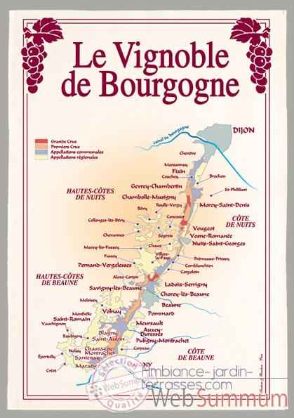 Video Torchon imprime vignoble de Bourgogne -1094