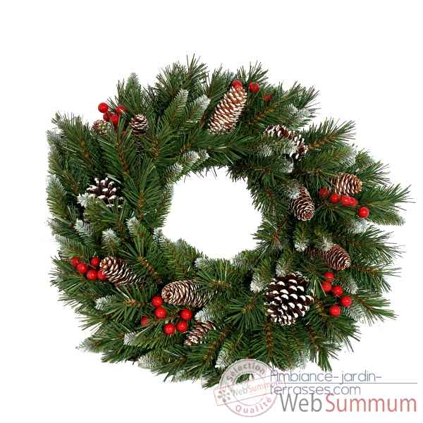 Couronne frosted berry wreath d50cm Van der Gucht -31FRW20