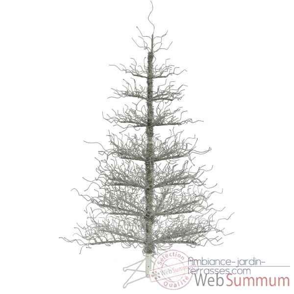 Sapin deco tree silver wrapped h152 Van der Gucht -31WDTS152