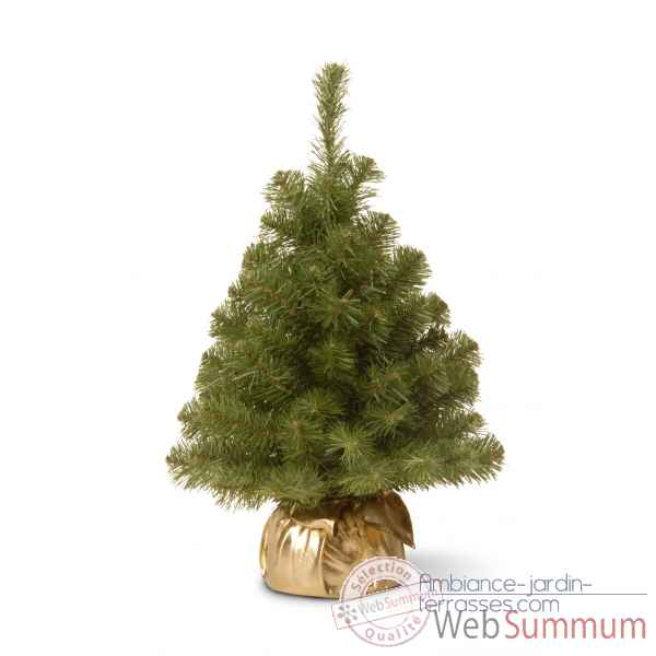 Sapin new noble spruce tree in gold cloth bag h61cm Van der Gucht -31NNB2GD