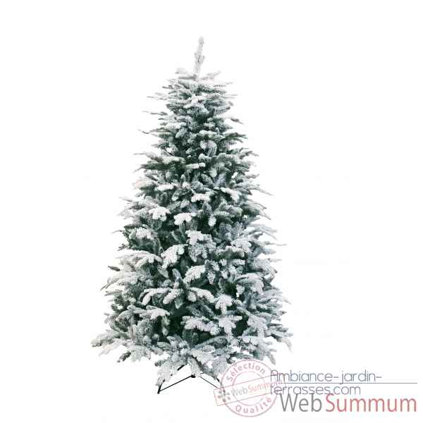 Sapin oslo snow pine hook on flocked white h210cm Van der Gucht -31OSL210