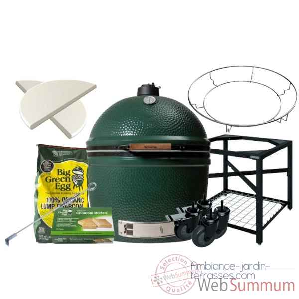 Barbecue multifonction EGG- 2xl Pack Original table modulaire Big Green Egg -PACORTM-2XL