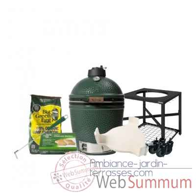 Barbecue multifonction Kamado EGG-medium-Pack Original table modulaire Big Green Egg -PACORTM-M